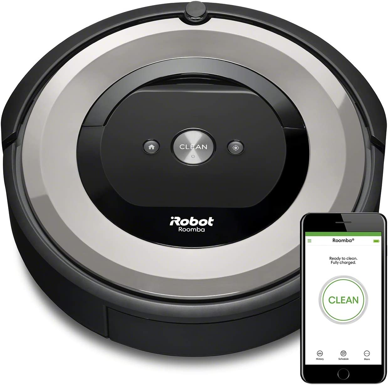 iRobot Roomba e5154 - Robot aspirador, aspiración alta potencia, 2 cepillos de goma, óptimo para alfombras y suelos duros, sugerencias personalizadas, compatible con asistentes de voz: Amazon.es: Hogar