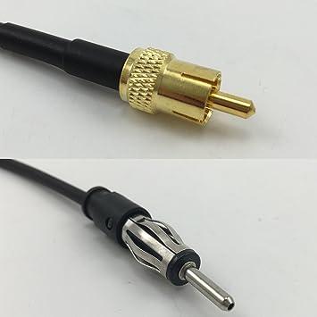 6 Inch RG174 RCA macho a AM/FM macho Jumper Pigtail RF Coaxial ...