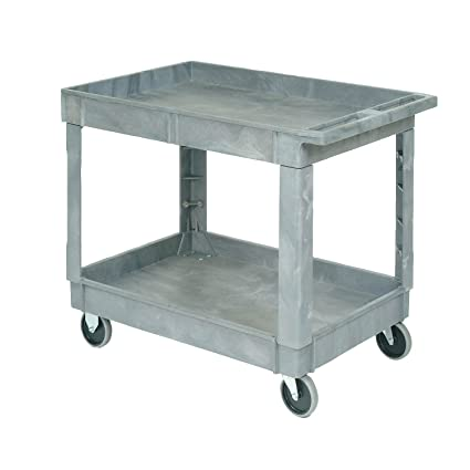 Gentil Plastic 2 Shelf Tray Service U0026 Utility Cart 40 X 26   5 Inch Rubber Casters