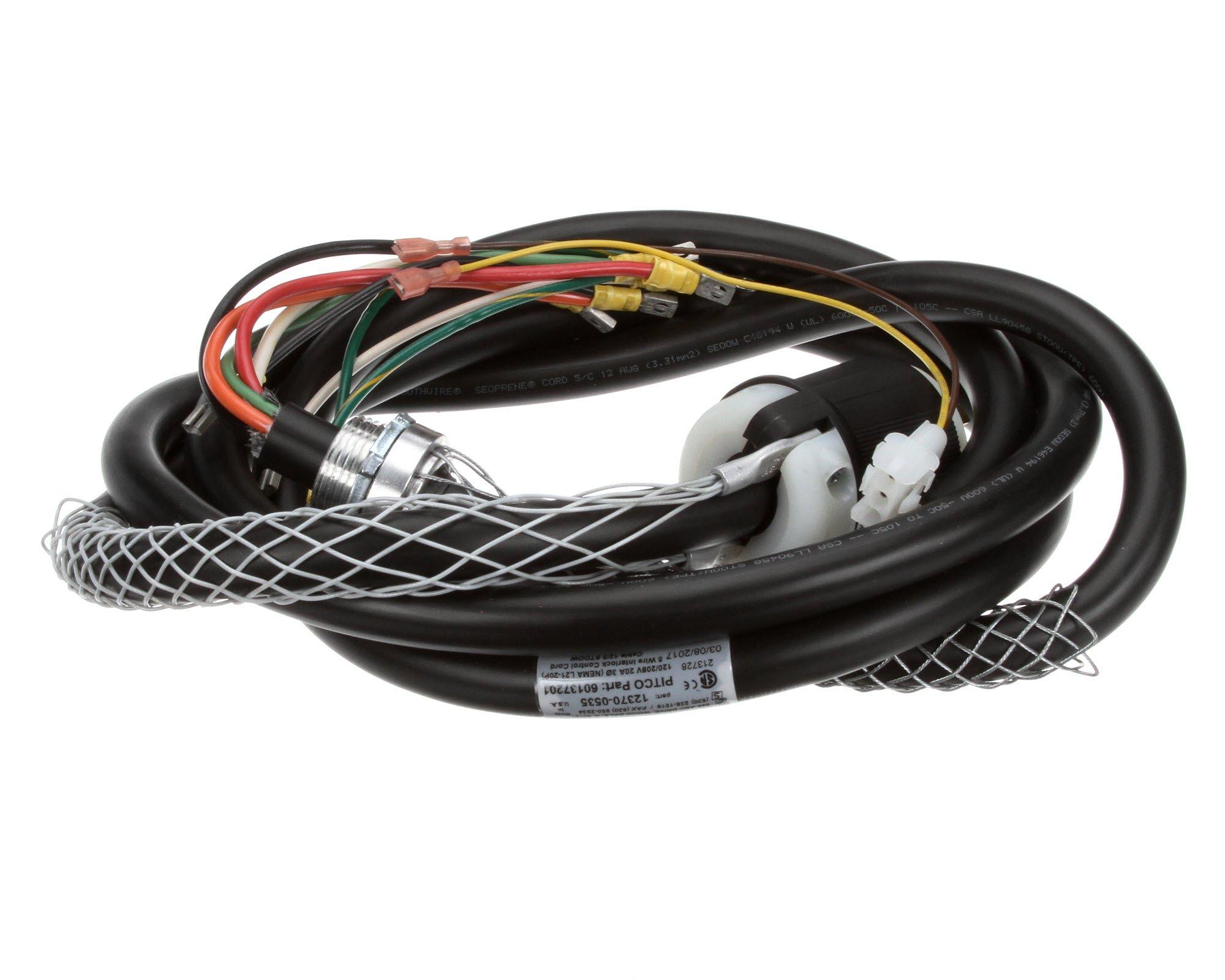 Pitco 60137201 Cord 5 Wire with Plug, NEMA L21-20P