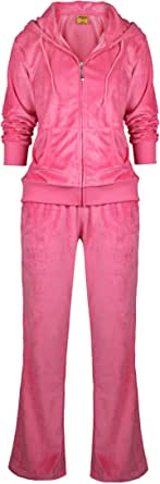 Womens Velour Tracksuit Set Soft Sports Joggers Outfits 2 Pieces Sweatsuits Zip Up Hoodies and Sweatpants