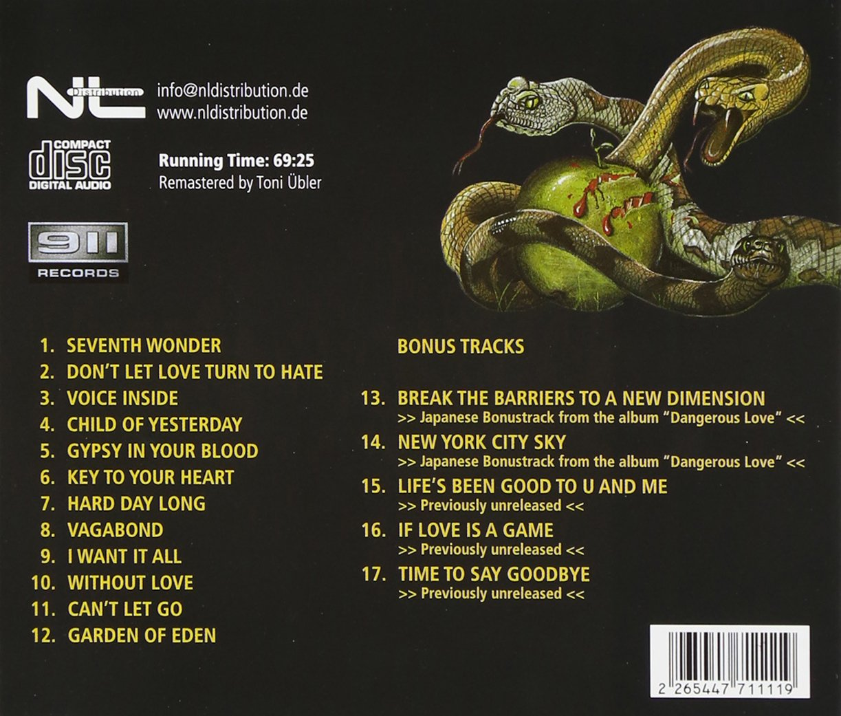 SNAKES IN PARADISE - Garden of Eden - Amazon.com Music