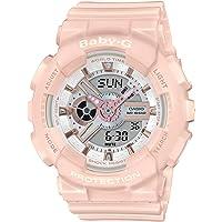 CASIO 女式模拟数字石英手表树脂表带 BA-110RG-4AER
