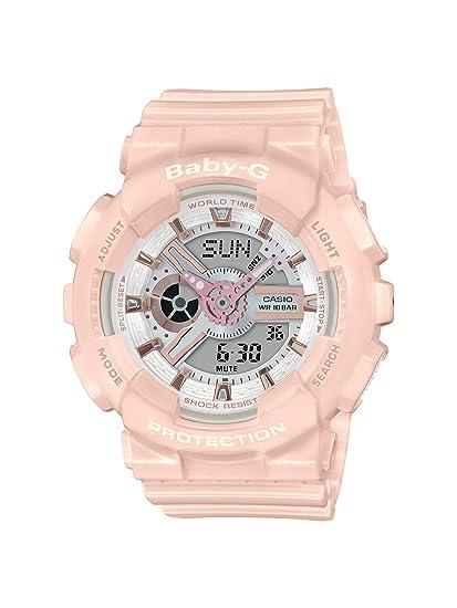 CASIO Reloj Analógico-Digital para Mujer de Cuarzo con Correa en Resina BA-110RG-4AER: Amazon.es: Relojes