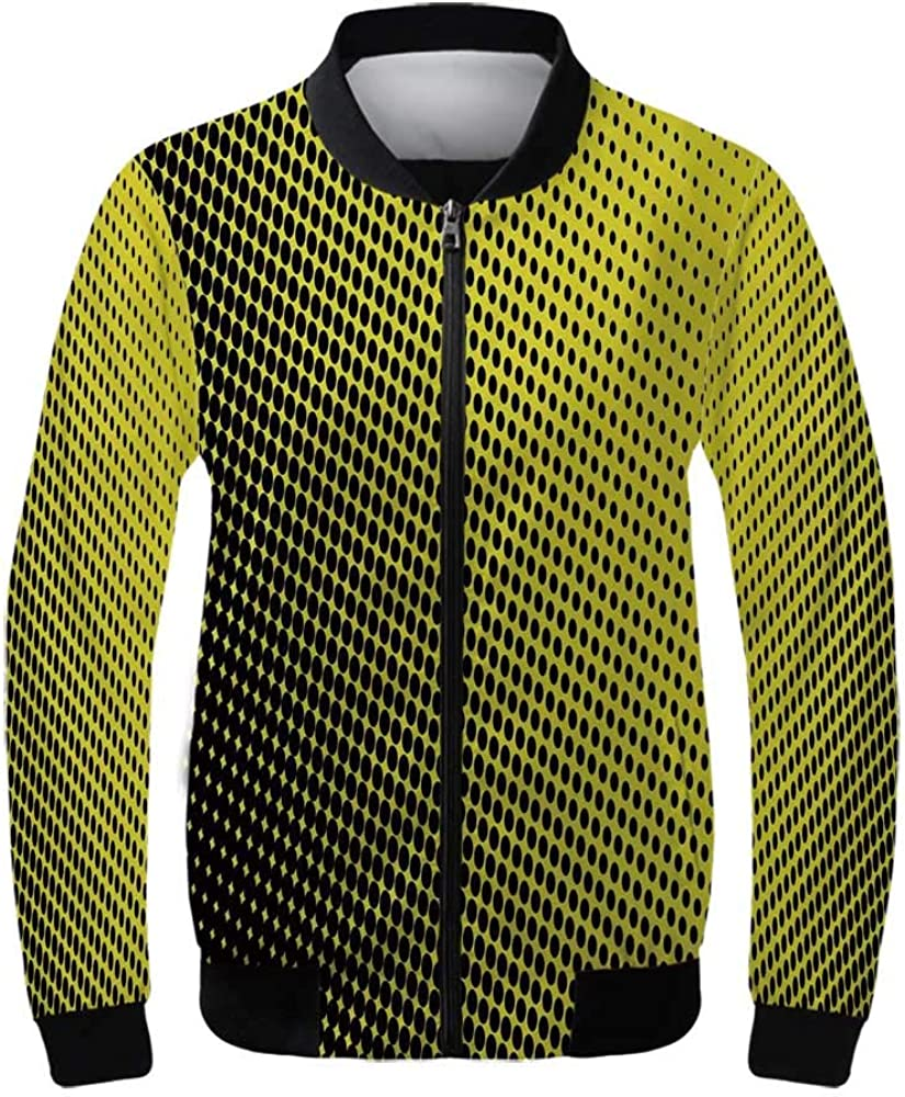 Yellow Chevron Women's Lightweight Jacket,Chevron Pattern with Yellow and Brown Lines Classical Retro for Sports,XS
