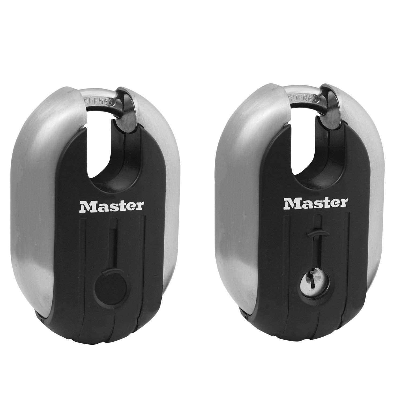 Master Lock - (6) Titanium Trailer Door/Multi Purpose Padlocks 2-5/16'' 187KA-6 by Master Lock (Image #2)