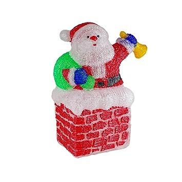 Außendekoration Weihnachten.Weihnachtsmann Auf Kamin 96 Led Acryl Innen Und Außendekoration
