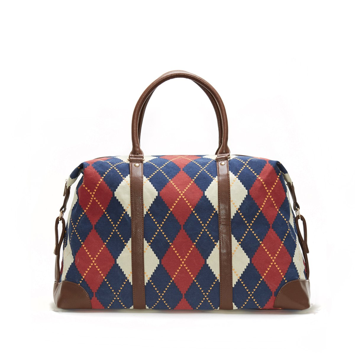 Limited Time Sale Royal Heritage Print Argyle Duffle Fashion Bag - MSRP 99 by Lulu Dharma