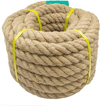 Aoneky Jute Rope Climbing 1.18//1.5 Inch Twisted Hemp Rope For Crafts Anchor,