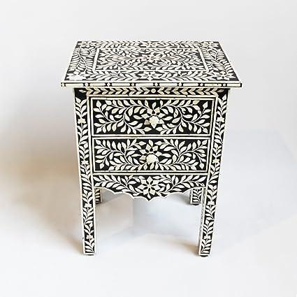 "18"" x 14"" x 24"" Bone Inlay Wooden Modern Antique ... - Amazon.com - 18"