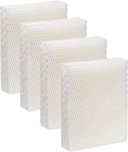 IOYIJOI Humidifier Replacement Filter T for Honeywell Top Fill Humidifier HEV615 and HEV620 Humidifier Wicks, Compatible with Part # HFT600, HFT600T, HFT600PDQ (4 Pack)