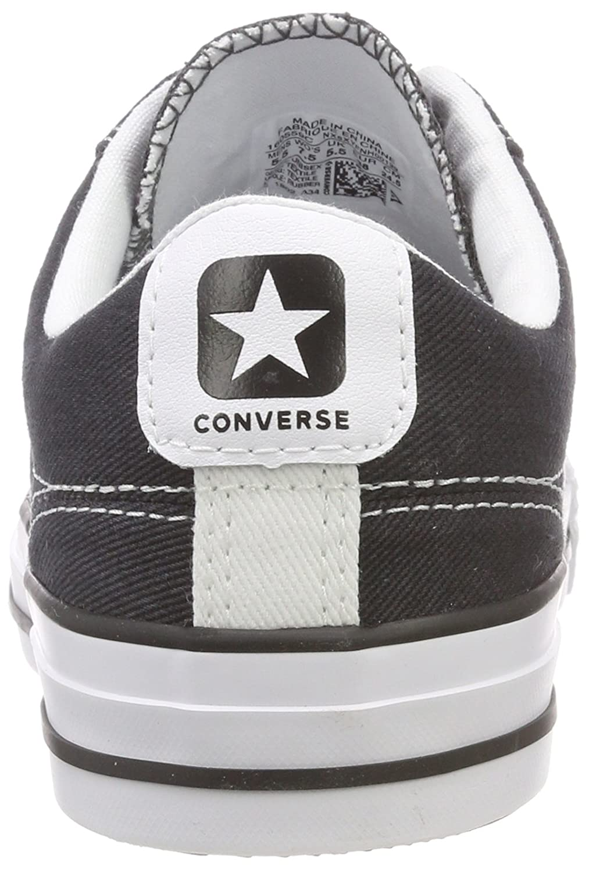 Converse Star Player Player Player Ox Almost bianca nero, scarpe da ginnastica Unisex – Adulto 71075b