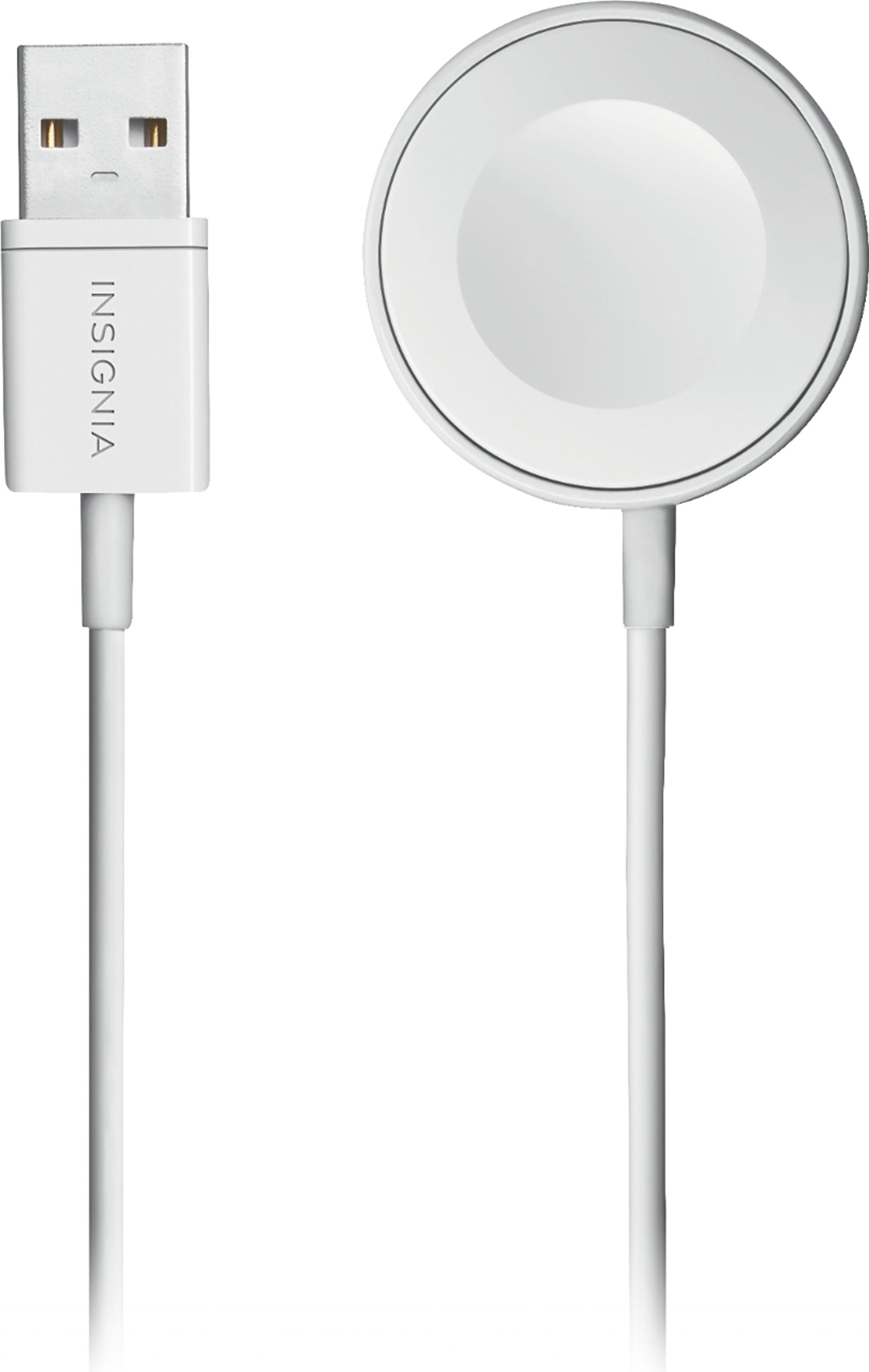 Apple MFi Certified 6' Magnetic Charging Cable for Apple Watch - White by Insignia