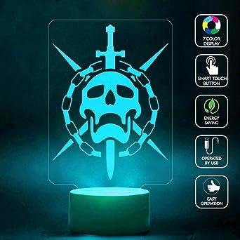 CMLART Destiny Flawless Raider 3D lámpara de Noche 7 Colores ...