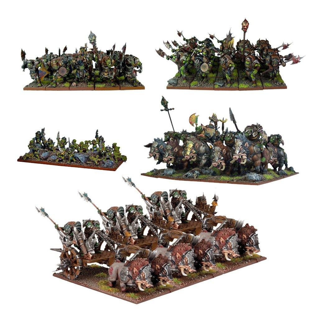 Mantic Games MGKWO100 Kings of War Orc Starter Force Playset