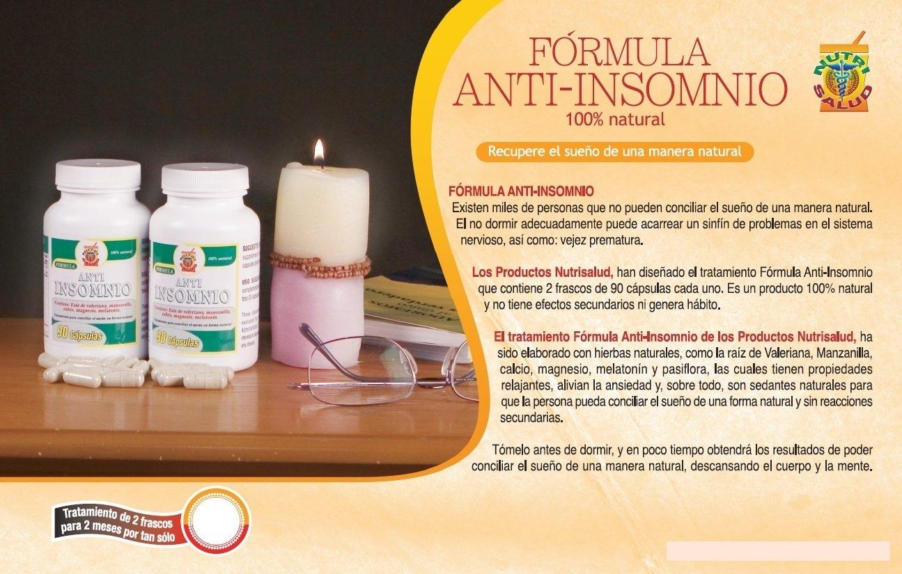 Amazon.com: Anti Insomnio, capsulas naturales para conciliar el sueño, Set de 2 frascos 90 capsulas c/u. No crean habito. Contienen: Valeriana, Manzanilla ...
