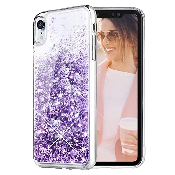 the latest bd150 12371 Caka iPhone XR Case, iPhone XR Glitter Case Liquid Series Sparkle Fashion  Bling Luxury Flowing Liquid Floating Cute Glitter Soft TPU Clear Case for  ...