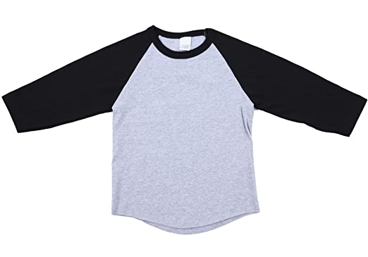 8241e02be Amazon.com  Unisex Kids Raglan 3 4 Sleeve Baseball T Shirt Top  Clothing
