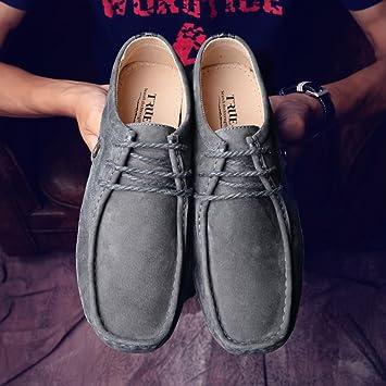 FEIFEI Hommes chaussures style britannique mode givré confortable résistant à l'usure des chaussures occasionnelles chaussures paresseux (Couleur : Marron, taille : EU38/UK5.5/CN38)