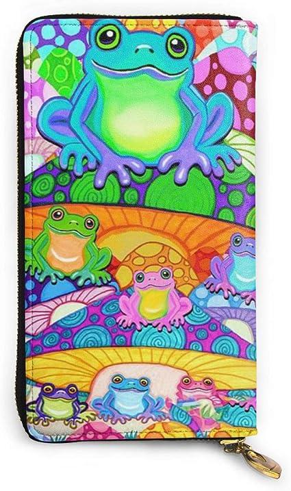 Monedero para mujer con diseño de ranas de setas