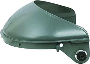 """Fibre-Metal by Honeywell F4400 Model 4001 with Quick-Lok Mounting Cups High Performance Face shield System for 4"""" Crown Size Hard Hats"""