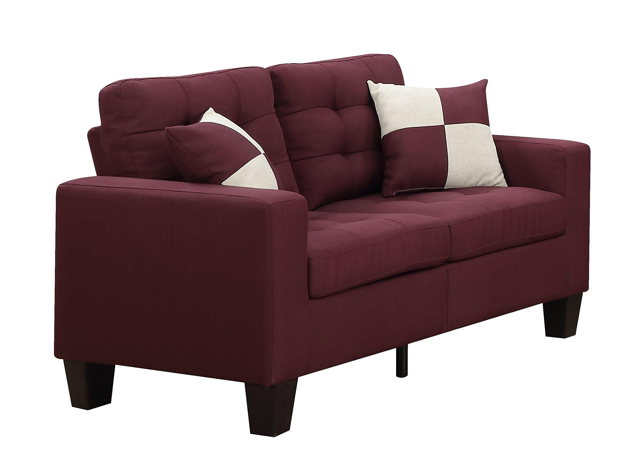 Furniture World Aston Love Seat, Purple