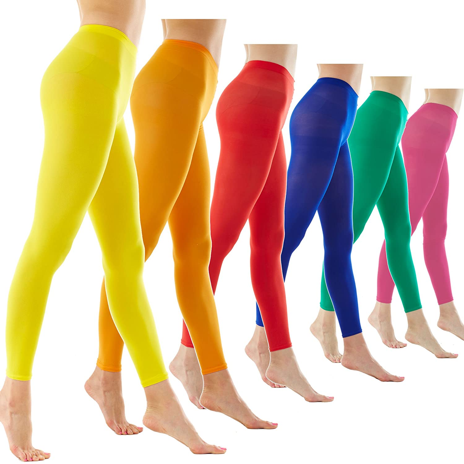 05ab7211afb Women's 80Denier Semi Opaque Solid Color Footless Pantyhose Tights 2pair