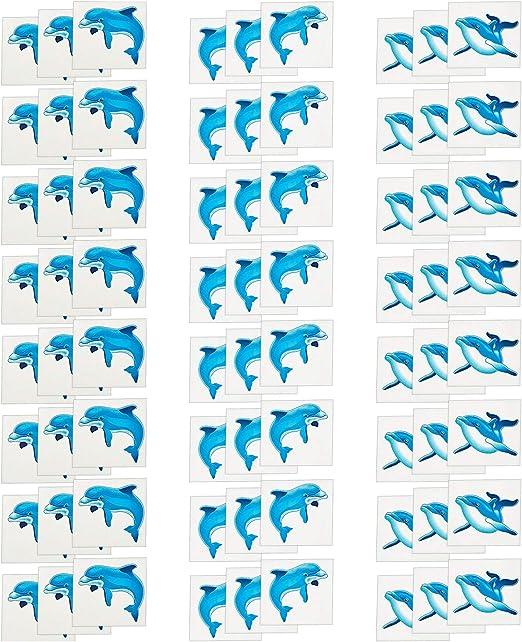 Fun Express Tatuajes temporales de Fiesta de Delfines | 72 Cuenta ...