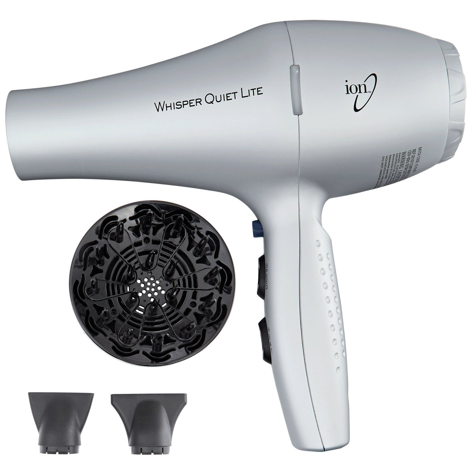 Whisper Quiet Lite 1875W Ionic Dryer by Ion Health and Beauty B00ON1NLEY