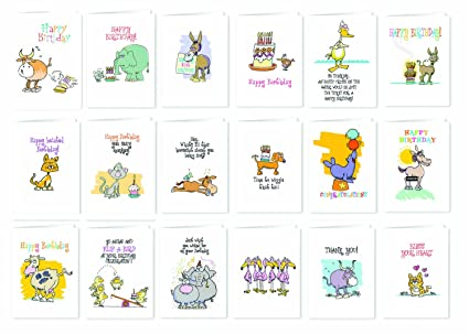 Amazon Funny Birthday Cards And More Adult Pack Of 18 Cards