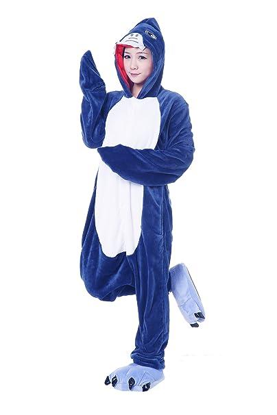 FashionFits Unisex Adult Jumpsuit Onesie Shark Pajamas Loungewear Costume  Cosplay S a017e3845