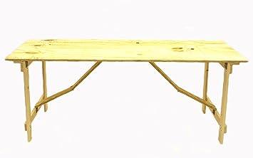 BE Furniture 6 \'x 2\' en bois contreplaqué Table en bois avec pieds ...