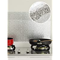 Kitchen Wall Aluminum Foil Paper Oil Proofed Heat Resistant Self Adhesive Decal