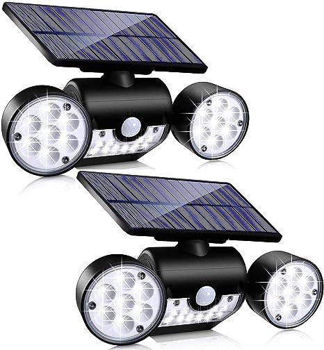 Outdoor Solar LED Solar Lamp Motion Sensor Solar Panel Night Safety Wall Light