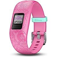 Garmin vívofit jr 2, Kids Fitness/Activity Tracker, 1-year Battery Life, Adjustable Band, Disney Princess, Pink, Model…