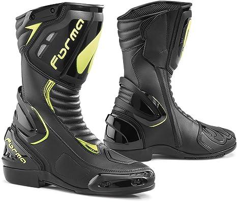 Forma FORV180-997837 Botas Moto Freccia Homologadas CE, Negro/Amarillo Fluo, 39