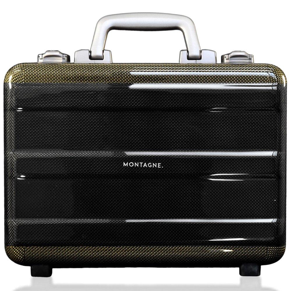 MONTAGNE. カーボン製 軽量アタッシュケース スーツケース ビジネスバッグ ハードケース TSAロック 機内持込可 【軽量1.35kg】 B01MV2CV8T ゴールド ゴールド