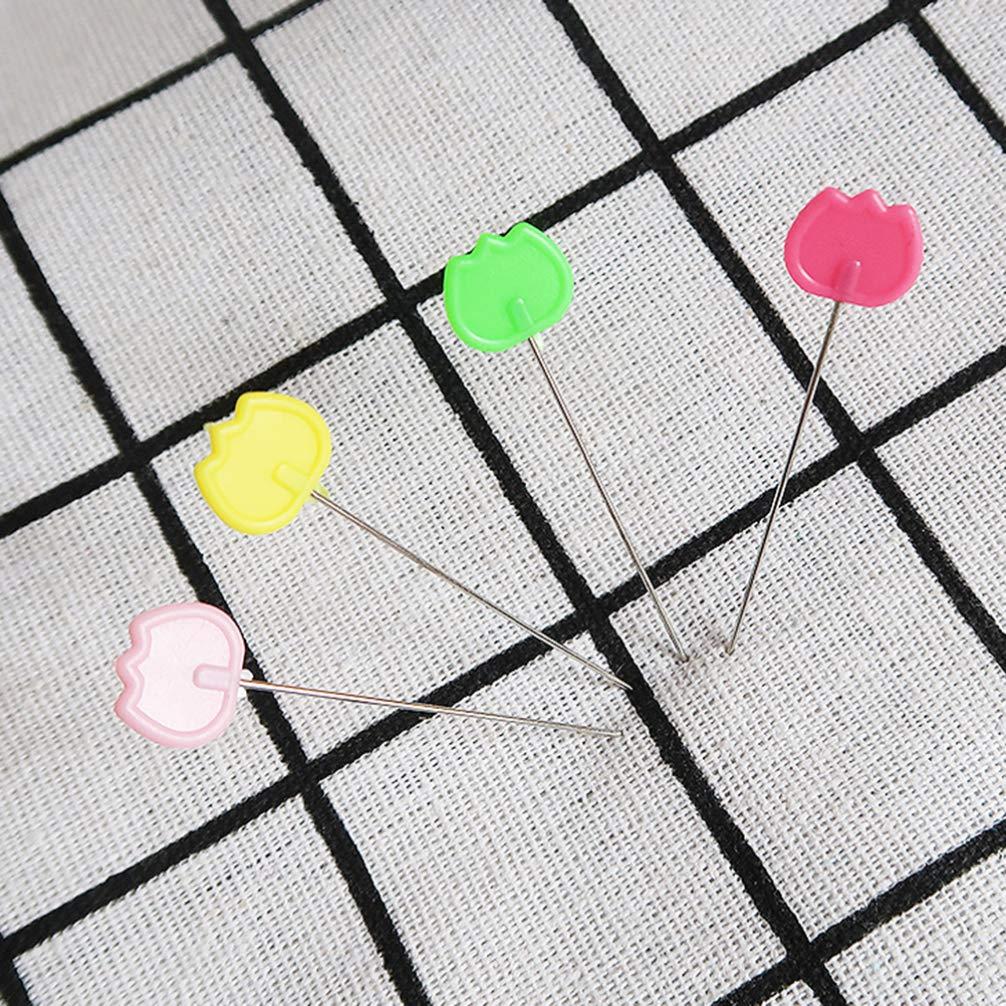 Healifty 50pcs diy coser alfileres planos cabeza plana alfileres rectos para acolchado modista artesanal