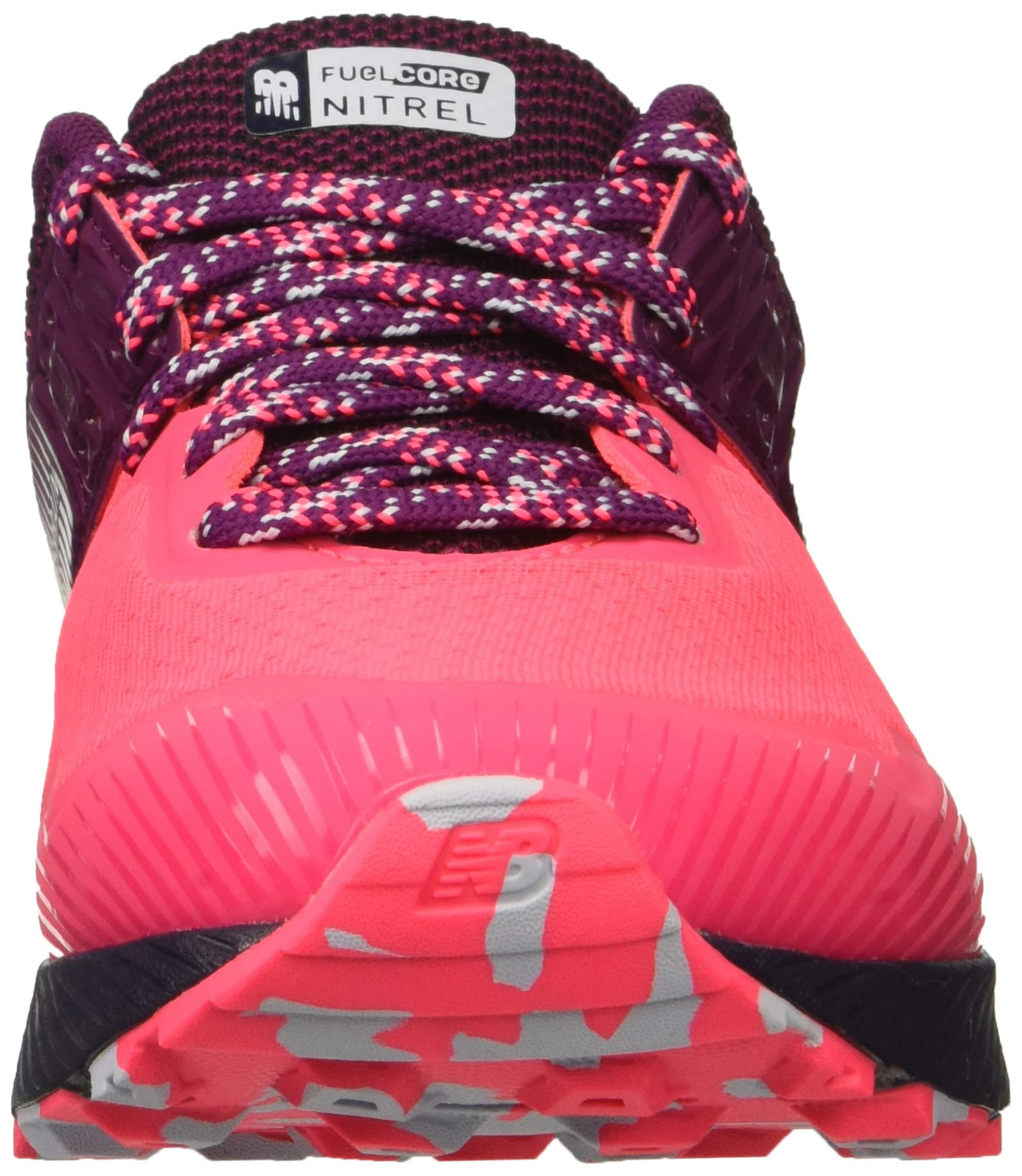 New Balance Women's Nitrel V2 FuelCore Trail Running Shoe Pink zing/Claret/Pigment 5 B US by New Balance (Image #4)