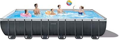 Intex 26367EH Ultra XTR Set Above Ground Pool, 24ft X 12ft X 52in, Gray