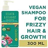Nuray Naturals Vegan Hair Growth Keratin Shampoo for Frizzy Hair, 300 ml