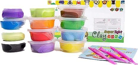 k2ger suave Limo arcilla de cristal mágica para niños juego de DIY no tóxico colorido plastilina juguetes regalos, pack de 12 unidades: Amazon.es: Juguetes y juegos