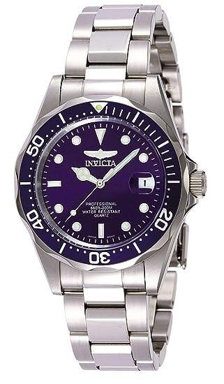 fe786738d Invicta 9204 Pro Diver Reloj Unisex acero inoxidable Cuarzo Esfera azul:  Invicta: Amazon.es: Relojes