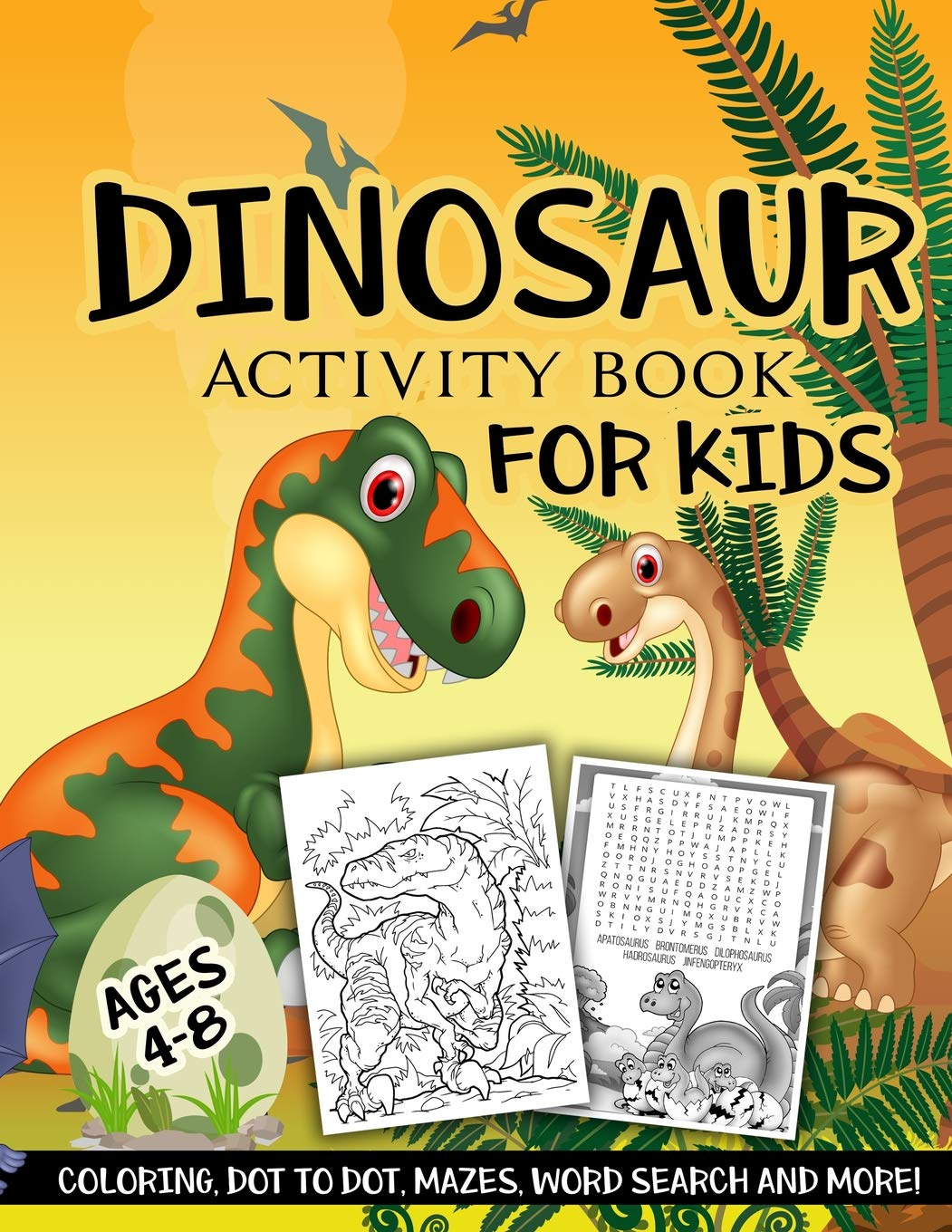 Dinosaur Activity Book Kids Ages product image