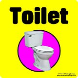 Advanced Printing Dementia Friendly Self-adhesive Toilet sticker sign for Alzheimers and Partially Sighted (Large 220x220 mm)