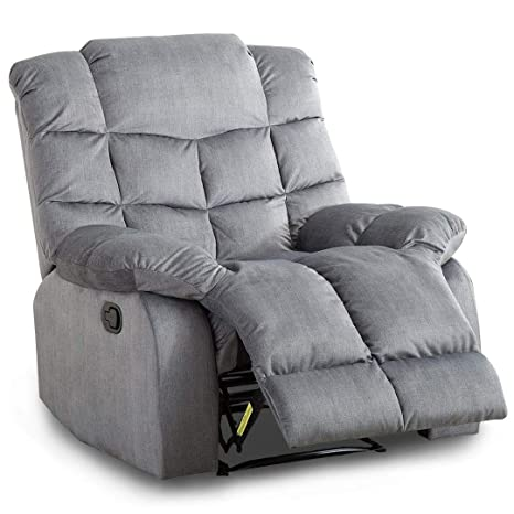 Cool Bonzy Recliner Chair With Over Stuff Backrest Wide Seat Recliners Slate Gray Ocoug Best Dining Table And Chair Ideas Images Ocougorg