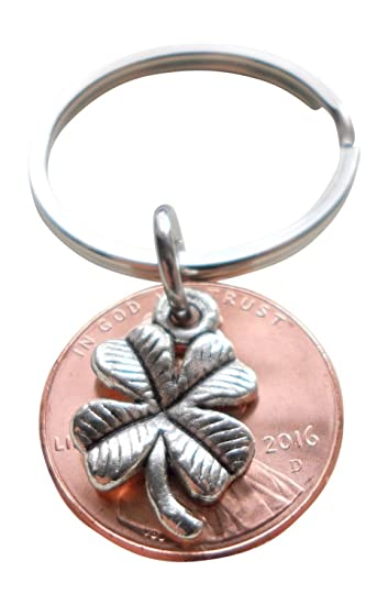 Amazon Clover Charm Layered Over 2016 Us One Cent Penny