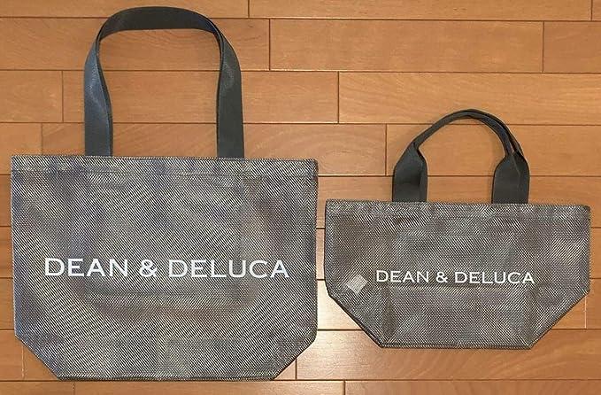 Amazon Co Jp Dean Deluca ディーン デルーカ 夏 限定 メッシュ トートバッグ シルバー Lサイズ Sサイズ 2点セット エコバッグ ホビー 通販