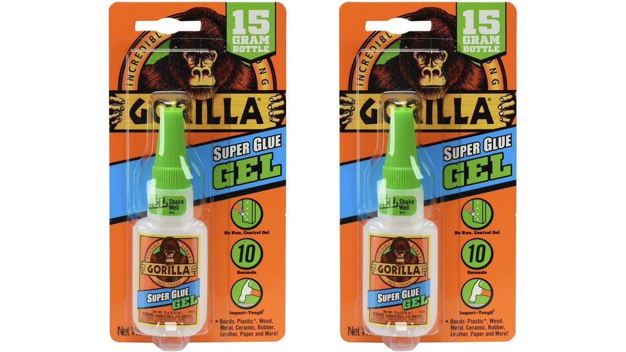 Gorilla Super Glue Gel, 15 g, Clear, (2 Pack)
