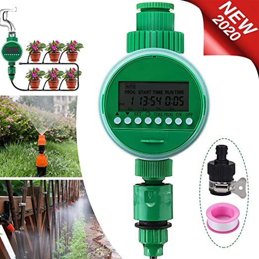Jeteven Temporizador de riego automático, Digital de Riego Automático con Pantalla LCD, con Cubierta Protectora Resistente al Agua para jardín Invernadero Agricultura Huerta: Amazon.es: Jardín